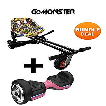 "6.5"" G PRO Pink Bluetooth Hoverboard with Go Monster Hoverkart in Hip Hop"