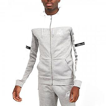 Kings Will Dream Vesy Grey White Zip Up Poly Hoody