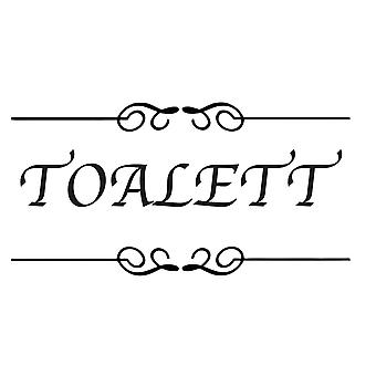 Wall décor | 2-Pack Toilet Plate | Apple Font