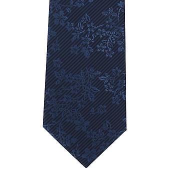מייקלסון של לונדון צבע פוליאסטר הצבעוניים עניבה-כחול