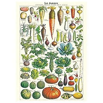 Cavallini Le Jardin Garden Vegetable Wrapping Paper / Poster High Quality