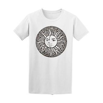 Böhmische Sonne und Mond T-Shirt Herren-Bild von Shutterstock