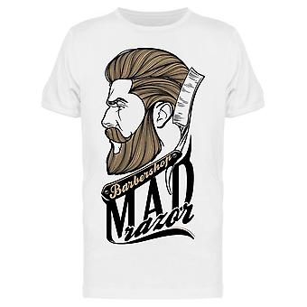 Barbershop: Mad Razor Tee Men's -Kuva Shutterstock