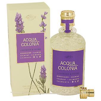 4711 Acqua Colonia Lavender & Thyme Eau De Cologne Spray (Unisex) By Maurer & Wirtz 5.7 oz Eau De Cologne Spray