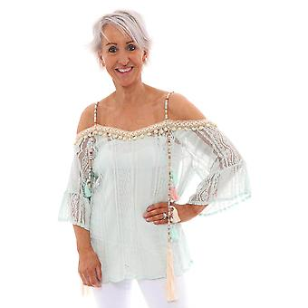 Made In Italy Zama Off The Shoulder Top