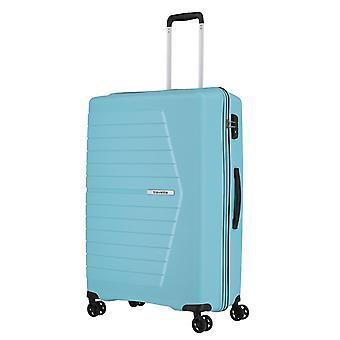 travelite Nubis Trolley L, 4 rollen, 76 cm, 92 L, lichtblauw