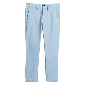 Gant Men's Sunbleached Chino Pants Slim Fit Blue
