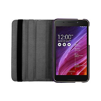 "PU Leather Case 360 Rotating Case for Asus FonePad FE375CG 7""[Purple]"