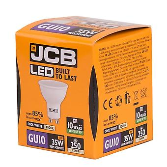 JCB LED GU10 3w Light Bulb Cap 250lm 4000k Cool White