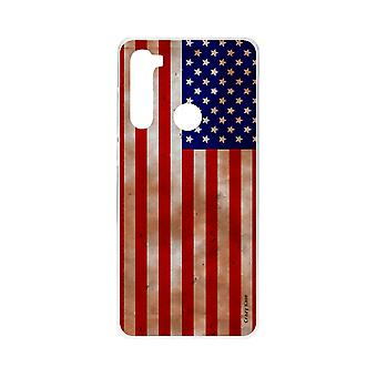 Hull for Xiaomi Redmi Note 8 Fleksibel Usa Flag
