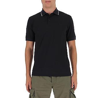 Z Zegna Vv360zz661b09 Männer's schwarze Baumwolle Polo Shirt