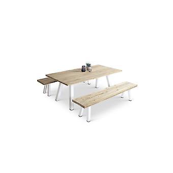 Alu Dining Group Timber 6 - fehér