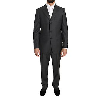 Ermenegildo Zegna Gray two Piece 3 Button Wool Zegna Suit