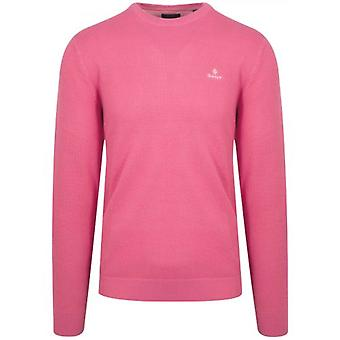 GANT Pink Honeycomb Sweatshirt