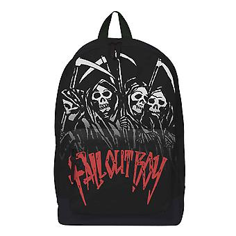 Fall Out Boy Backpack Bag Reaper Gang Band Logo new Official Black