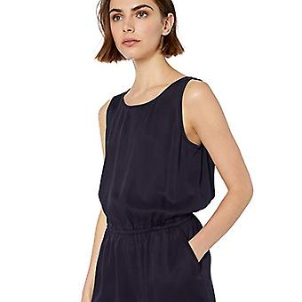 Marca - Daily Ritual Women's Tencel Sleeveless V-Back Romper, Light Pi...