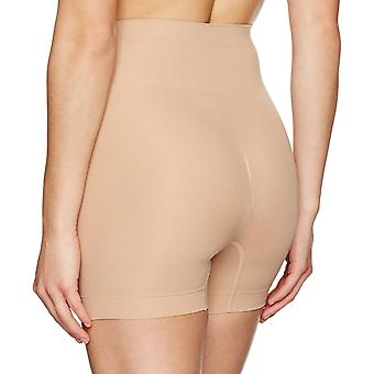 Arabella Women's Seamless Smoothing Shapewear Short with, Nude, Size Medium