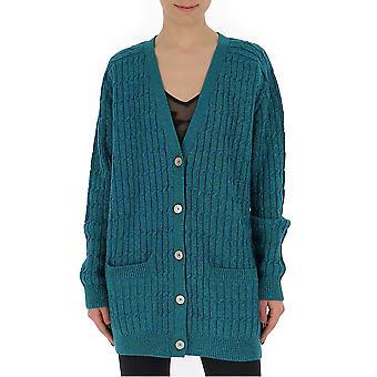 Gucci 572757xkajg4402 Women's Green Wool Cardigan