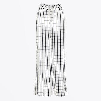 Munthe  - Checked Trousers - Off-White