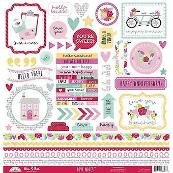Doodlebug Design Love Konstaterar Detta & Det Klistermärken