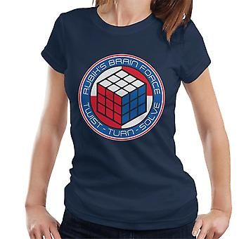 Rubiks hjärn styrka kvinnors T-shirt
