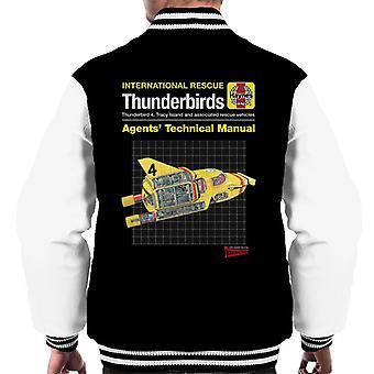 Thunderbirds Agents Technical Manual Thunderbird 4 Men's Varsity Jacket