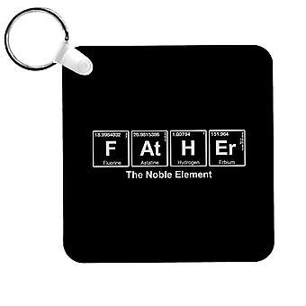 Padre El Elemento Noble Símbolos Químicos Keyring