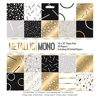 Papermania Металлический Моно 12x12 Inch Бумага Pad