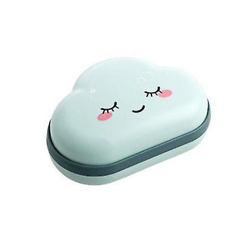 Roztomilý kreslený mraky tvar mozků mýdlo box držák pro koupelny a cestování