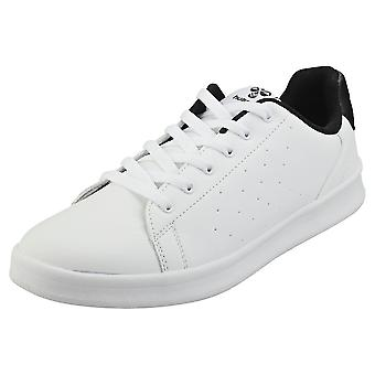 hummel Busan Mens Casual Trainers in White Black
