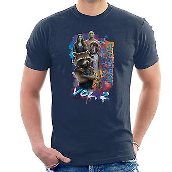 Marvel Guardians Of The Galaxy Vol 2 Galactic Character Montage Men's T-Shirt