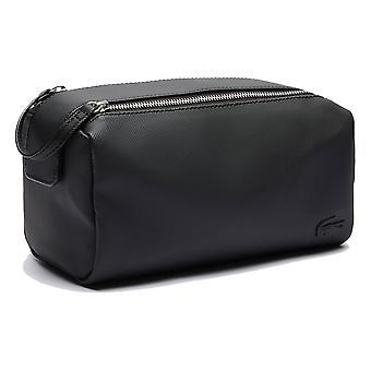 Lacoste Uomo 2020 ClassicO Doppia zip 3 Tasche Travel Petit Piqué Wash Bag