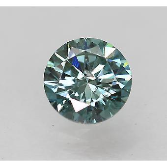 Cert 0.50 Karat Vivid Blue SI1 Runde brillant verbessert natürlichen Diamant 5.02mm