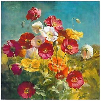 Print on canvas - Field Flowers - Painting on Canvas, Wall Decoration
