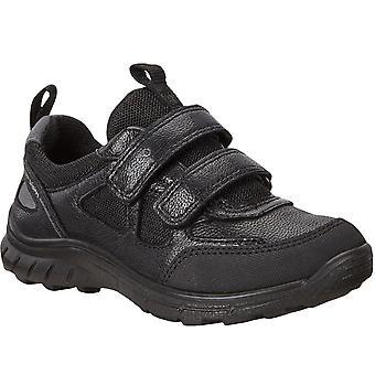 Ecco Boys Kids Biom Trail Walking Casual Leather School Shoes Trainers - Black