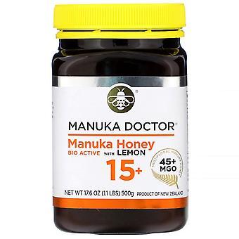 Manuka Doctor, Manuka Honey Bio Active avec citron 15+, MGO 45+, 17,6 oz (500 g)