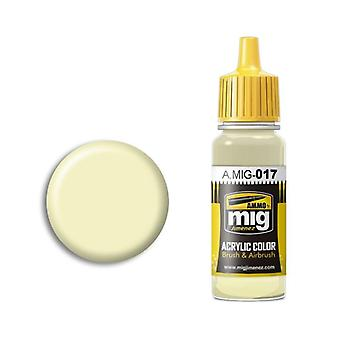 Ammo by Mig Acrylic Paint - A.MIG-0017 RAL 9001 Cremeweiss (17ml)