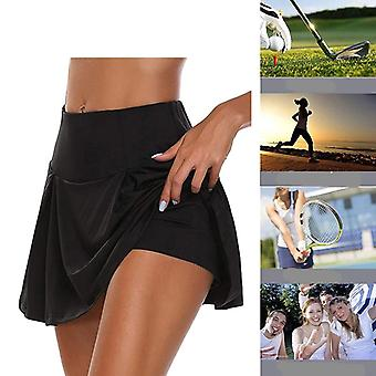 Women's High Waist Sports Skorts for Badminton Volleyball Running and Cheering