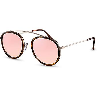 Sunglasses Women's Panto Flamed Brown/Pink (CWI2106)