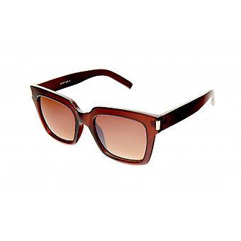 Solglasögon Unisex bordeaux/transparent/brun