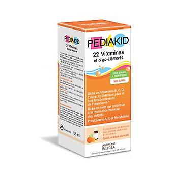 Syrup: 22 Vitamins and Trace elements 125 ml (Orange - Apricot)