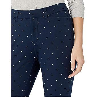 Essentials Women's Skinny Ankle Pant, Navy Dot, 0 Regular