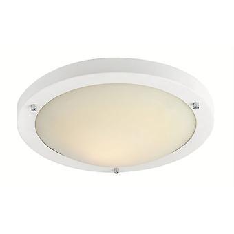Firstlight Rondo - LED 24 Light Flush Deckenleuchte Matt Weiß, Opal Glas IP44