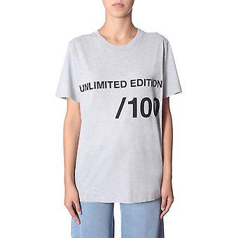 Mm6 Maison Margiela S32gc0522s21058858m Women's Grey Cotton T-shirt