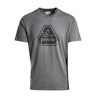 PRANA Men's Icon Short Sleeve T-Shirt Grijs