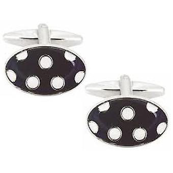 Blue & White Polka-Dot Cufflinks