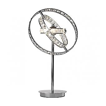 Eternity Crystal And Polished Chrome 4-light Table Lamp
