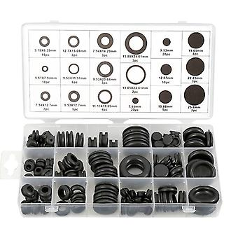 Rubber O-ring Grommets Kits Plug Wire Ring- Assortment Electrical Wire Gasket