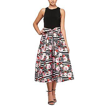 SLNY | Floral Sleeveless MIDI Dress