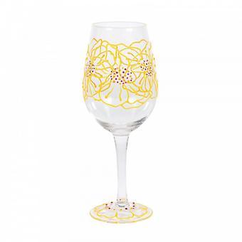Marigolds Wine Glass